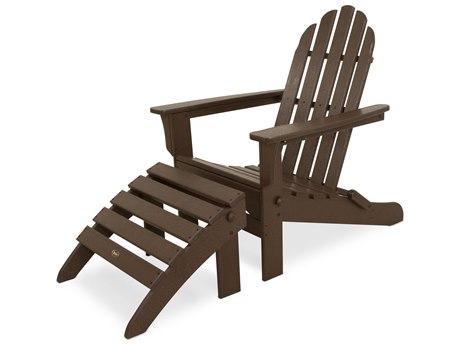 Trex® Outdoor Furniture Cape Cod 2-Piece Folding Adirondack Seating Set in Vintage Lantern