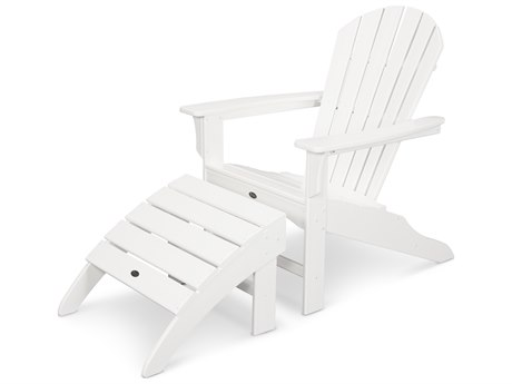 Trex® Outdoor Furniture Cape Cod Shellback 2-Piece Adirondack Seating Set in Classic White