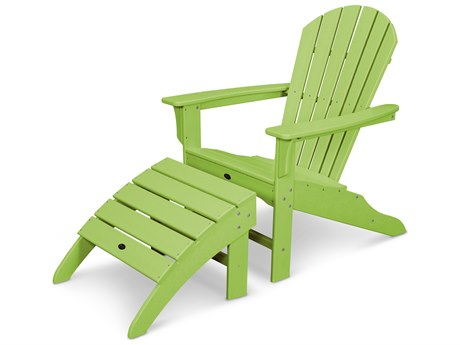 Trex® Outdoor Furniture Cape Cod Shellback 2-Piece Adirondack Seating Set in Lime
