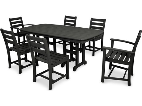 Trex® Outdoor Furniture Monterey Bay 7-Piece Dining Set in Charcoal Black TRXTXS1181CB