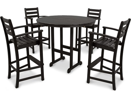 Trex® Outdoor Furniture Monterey Bay 5-Piece Bar Set in Charcoal Black TRXTXS1191CB
