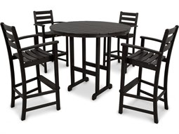 Outdoor Furniture Monterey Bay 5-Piece Bar Set in Charcoal Black