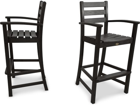Trex® Outdoor Furniture Monterey Bay 2-Piece Bar Chair Set in Charcoal Black TRXTXS1201CB