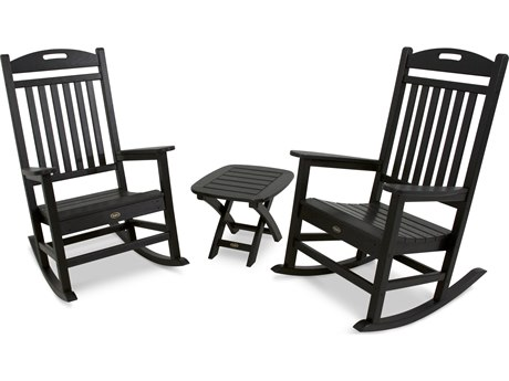 Trex® Outdoor Furniture Yacht Club 3-Piece Rocker Set in Charcoal Black