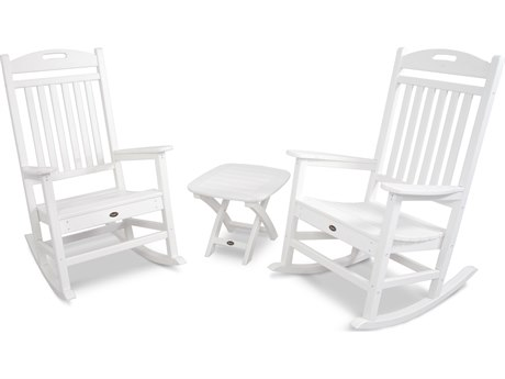 Trex® Outdoor Furniture Yacht Club 3-Piece Rocker Set in Classic White