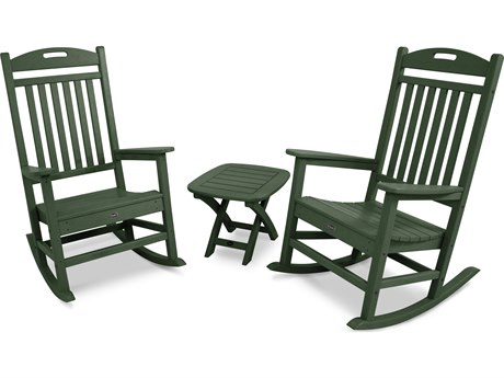 Trex® Outdoor Furniture Yacht Club 3-Piece Rocker Set in Rainforest Canopy