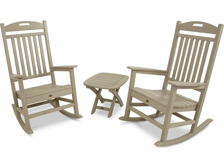 Trex® Outdoor Furniture Yacht Club 3-Piece Rocker Set in Sand Castle