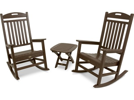 Trex® Outdoor Furniture Yacht Club 3-Piece Rocker Set in Vintage Lantern