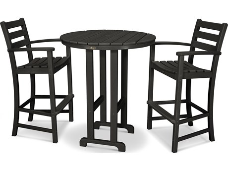 Trex® Outdoor Furniture Monterey Bay 3-Piece Bar Set in Charcoal Black TRXTXS1341CB