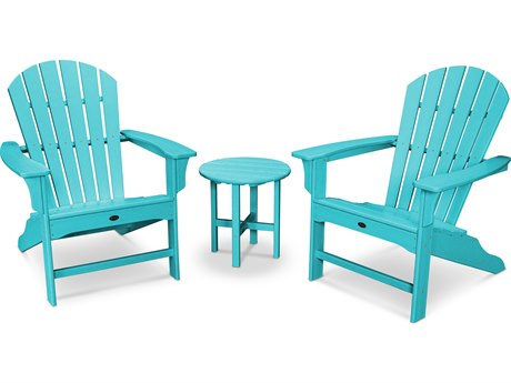 Trex® Outdoor Furniture Cape Cod Shellback 3-Piece Adirondack Set in Aruba