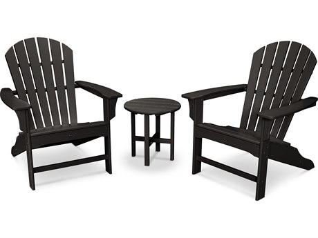 Trex® Outdoor Furniture Cape Cod Shellback 3-Piece Adirondack Set in Charcoal Black