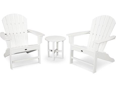 Trex® Outdoor Furniture Cape Cod Shellback 3-Piece Adirondack Set in Classic White