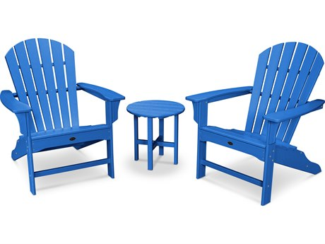 Trex® Outdoor Furniture Cape Cod Shellback 3-Piece Adirondack Set in Pacific Blue