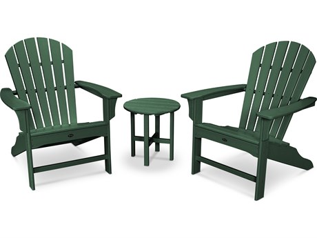 Trex® Outdoor Furniture Cape Cod Shellback 3-Piece Adirondack Set in Rainforest Canopy