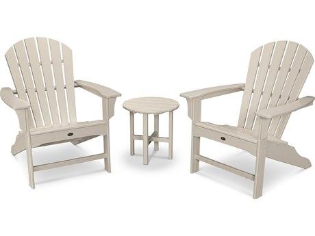 Trex® Outdoor Furniture Cape Cod Shellback 3-Piece Adirondack Set in Sand Castle