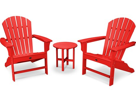 Trex® Outdoor Furniture Cape Cod Shellback 3-Piece Adirondack Set in Sunset Red