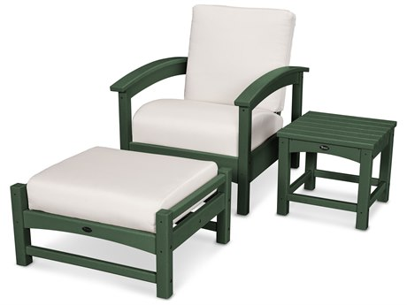 Trex® Outdoor Furniture 3 Piece Rockport Deep Seating Set in Rainforest Canopy / Bird's Eye TRXTXS1372RC5472