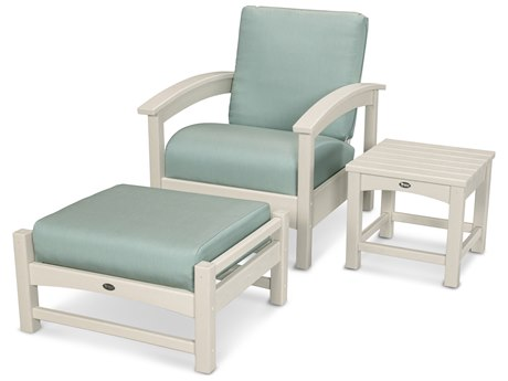 Trex® Outdoor Furniture 3 Piece Rockport Deep Seating Set in Sand Castle / Spa TRXTXS1372SC5413