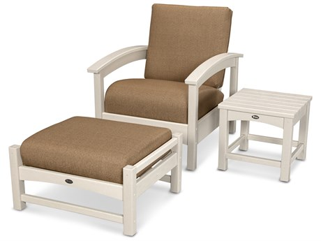 Trex® Outdoor Furniture 3 Piece Rockport Deep Seating Set in Sand Castle / Sesame TRXTXS1372SC8318