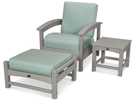 Trex® Outdoor Furniture 3 Piece Rockport Deep Seating Set in Stepping Stone / Spa TRXTXS1372SS5413