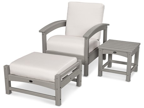 Trex® Outdoor Furniture 3 Piece Rockport Deep Seating Set in Stepping Stone / Bird's Eye TRXTXS1372SS5472