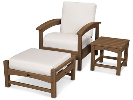 Trex® Outdoor Furniture 3 Piece Rockport Deep Seating Set in Tree House / Bird's Eye TRXTXS1372TH5472