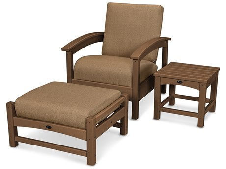 Trex® Outdoor Furniture 3 Piece Rockport Deep Seating Set in Tree House / Sesame TRXTXS1372TH8318