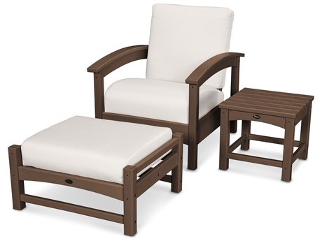 Trex® Outdoor Furniture 3 Piece Rockport Deep Seating Set in Vintage Lantern / Bird's Eye TRXTXS1372VL5472