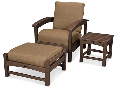 Trex® Outdoor Furniture 3 Piece Rockport Deep Seating Set in Vintage Lantern / Sesame TRXTXS1372VL8318