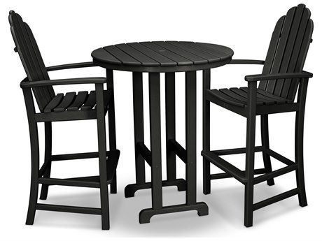 Trex® Outdoor Furniture Cape Cod 3-Piece Bar Set in Charcoal Black TRXTXS1411CB