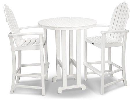 Trex® Outdoor Furniture Cape Cod 3-Piece Bar Set in Classic White