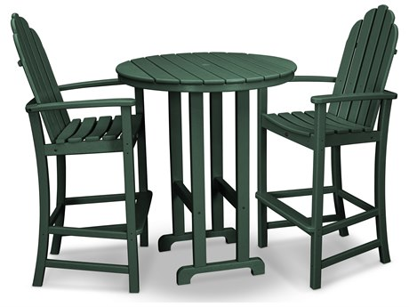 Trex® Outdoor Furniture Cape Cod 3-Piece Bar Set in Rainforest Canopy