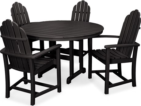 Trex® Outdoor Furniture Cape Cod 5-Piece Dining Set in Charcoal Black TRXTXS1421CB