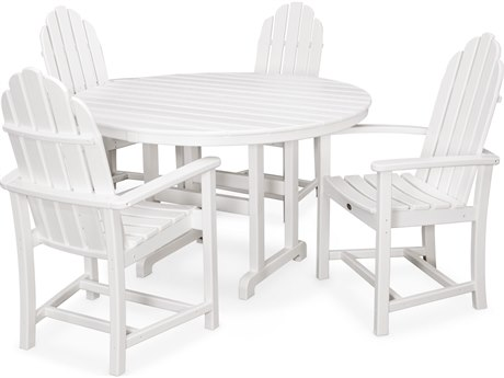 Trex® Outdoor Furniture Cape Cod 5-Piece Dining Set in Classic White
