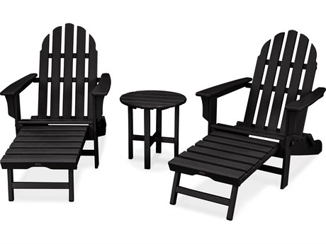 Trex® Outdoor Furniture Cape Cod 3-Piece Ultimate Adirondack Set in Charcoal Black