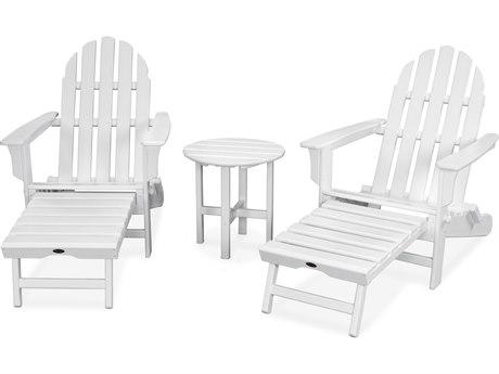 Trex® Outdoor Furniture Cape Cod 3-Piece Ultimate Adirondack Set in Classic White
