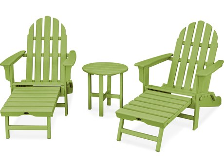 Trex® Outdoor Furniture Cape Cod 3-Piece Ultimate Adirondack Set in Lime