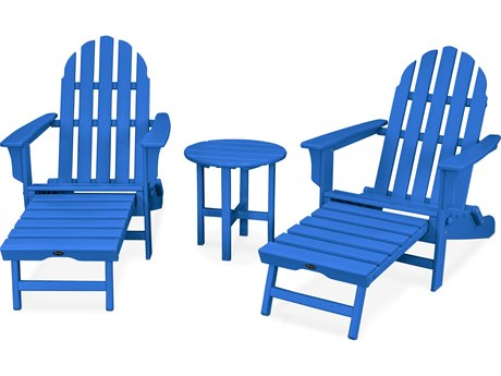 Trex® Outdoor Furniture Cape Cod 3-Piece Ultimate Adirondack Set in Pacific Blue