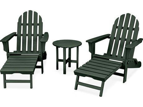 Trex® Outdoor Furniture Cape Cod 3-Piece Ultimate Adirondack Set in Rainforest Canopy