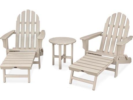 Trex® Outdoor Furniture Cape Cod 3-Piece Ultimate Adirondack Set in Sand Castle