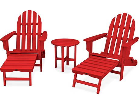 Trex® Outdoor Furniture Cape Cod 3-Piece Ultimate Adirondack Set in Sunset Red