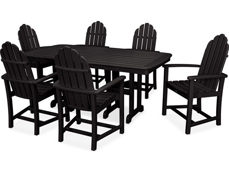 Trex® Outdoor Furniture Cape Cod 7-Piece Dining Set in Charcoal Black TRXTXS1441CB