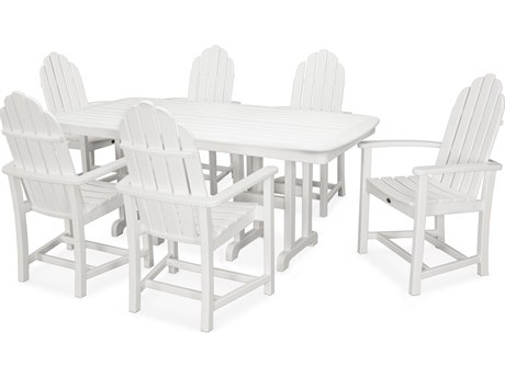 Trex® Outdoor Furniture Cape Cod 7-Piece Dining Set in Classic White