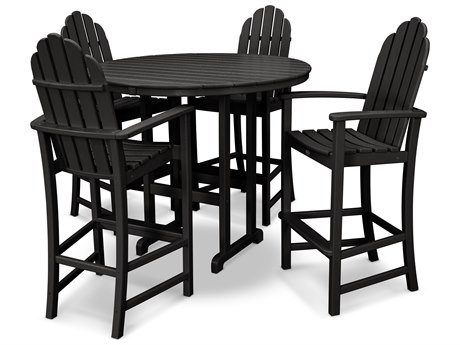 Trex® Outdoor Furniture Cape Cod 5-Piece Bar Set in Charcoal Black TRXTXS1451CB