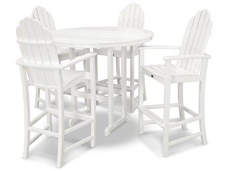 Trex® Outdoor Furniture Cape Cod 5-Piece Bar Set in Classic White