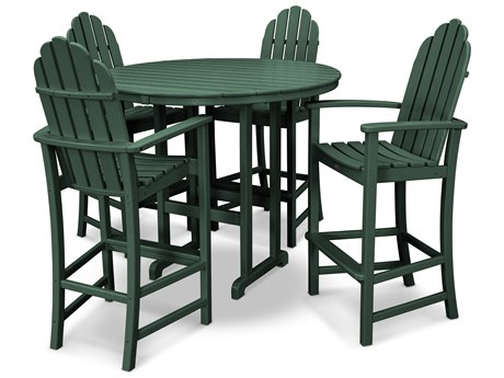 Trex® Outdoor Furniture Cape Cod 5-Piece Bar Set in Rainforest Canopy