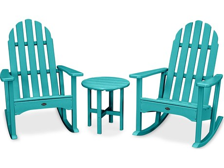 Trex® Outdoor Furniture Cape Cod 3-Piece Adirondack Rocker Set in Aruba