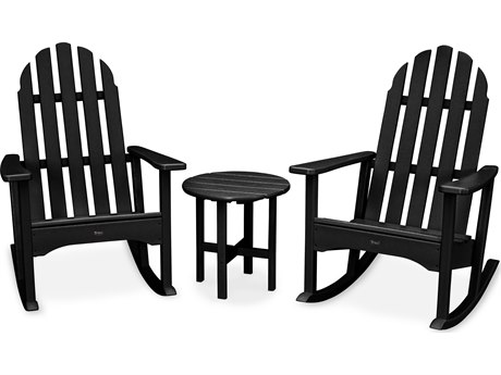 Trex® Outdoor Furniture Cape Cod 3-Piece Adirondack Rocker Set in Charcoal Black