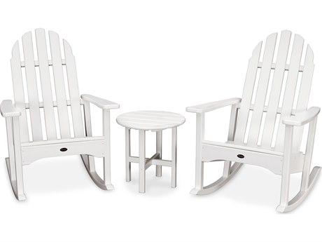 Trex® Outdoor Furniture Cape Cod 3-Piece Adirondack Rocker Set in Classic White