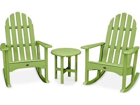 Trex® Outdoor Furniture Cape Cod 3-Piece Adirondack Rocker Set in Lime